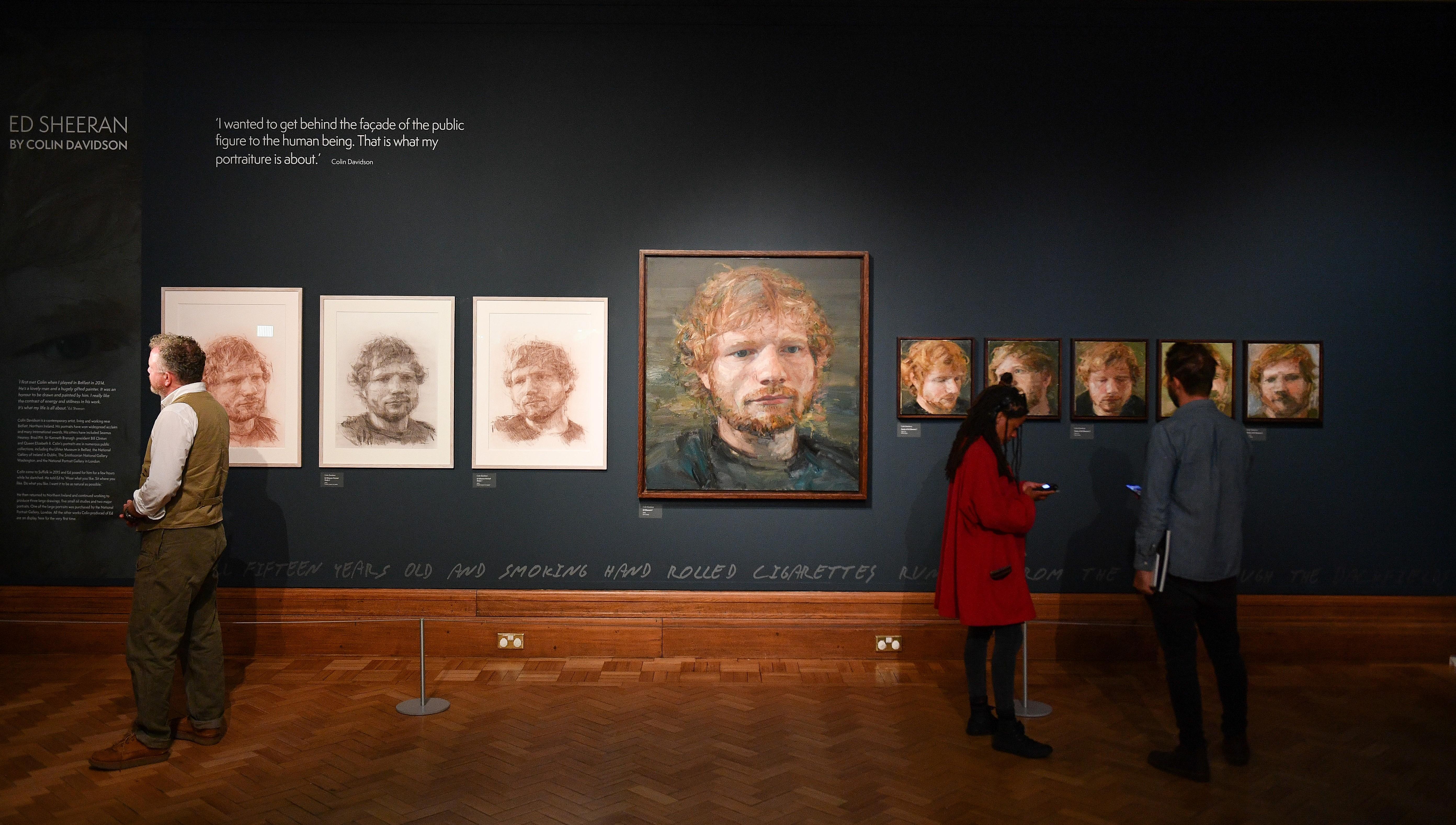 Ed Sheeran tentoonstelling