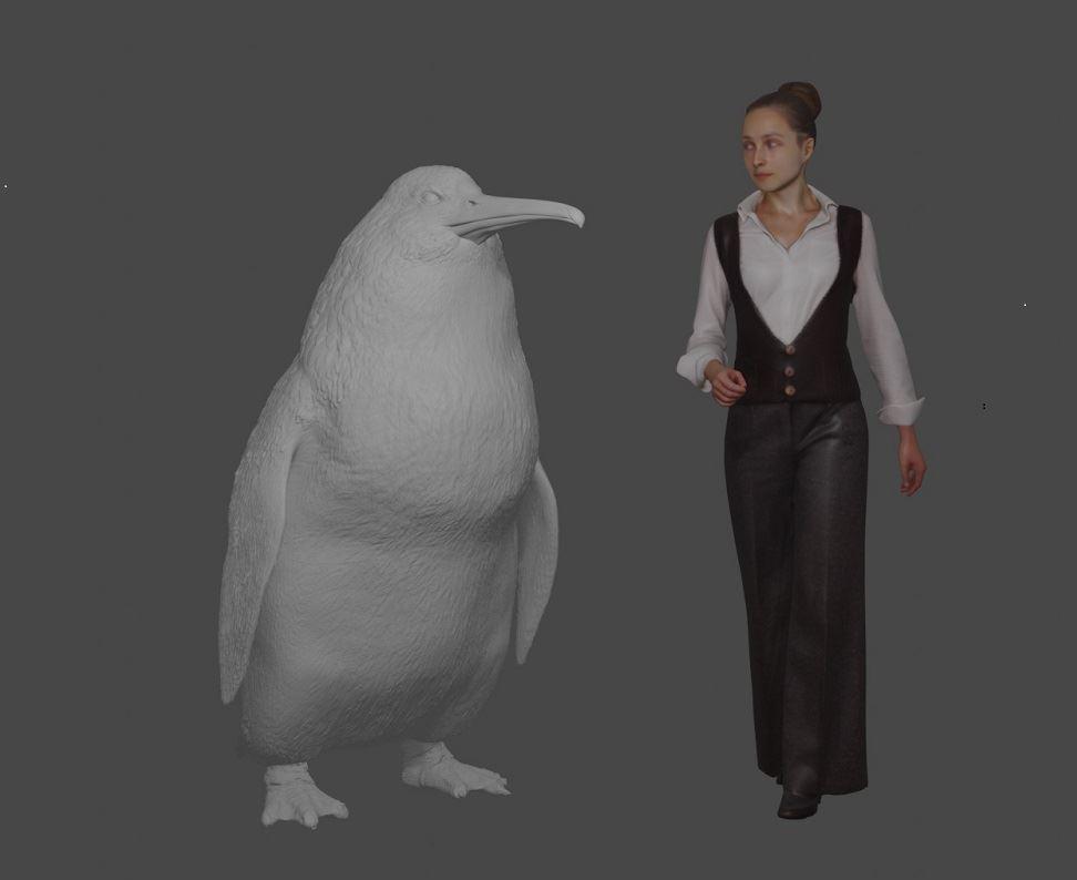 Deze reuzenpinguïn was bijna zo groot als een mens