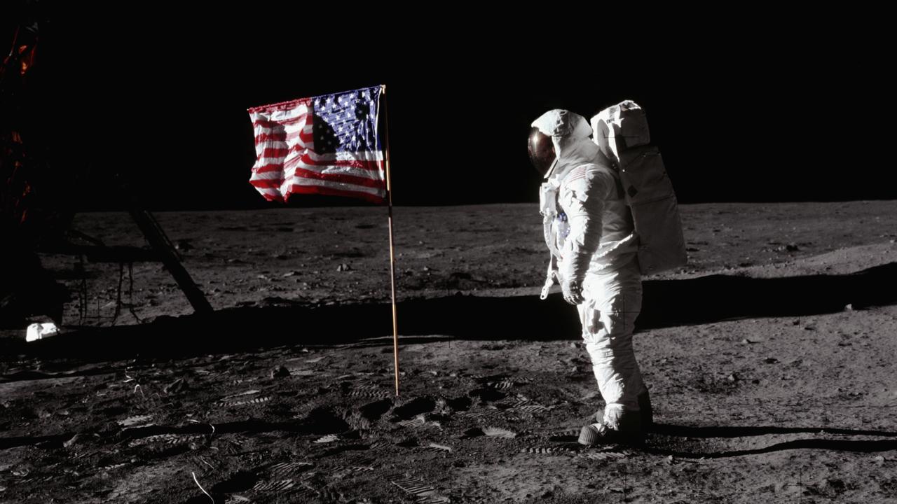 maanlanding Amerikaanse vlag