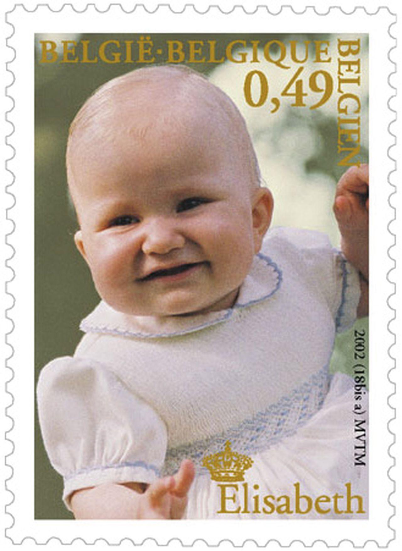 postzegel kleine Elisabeth