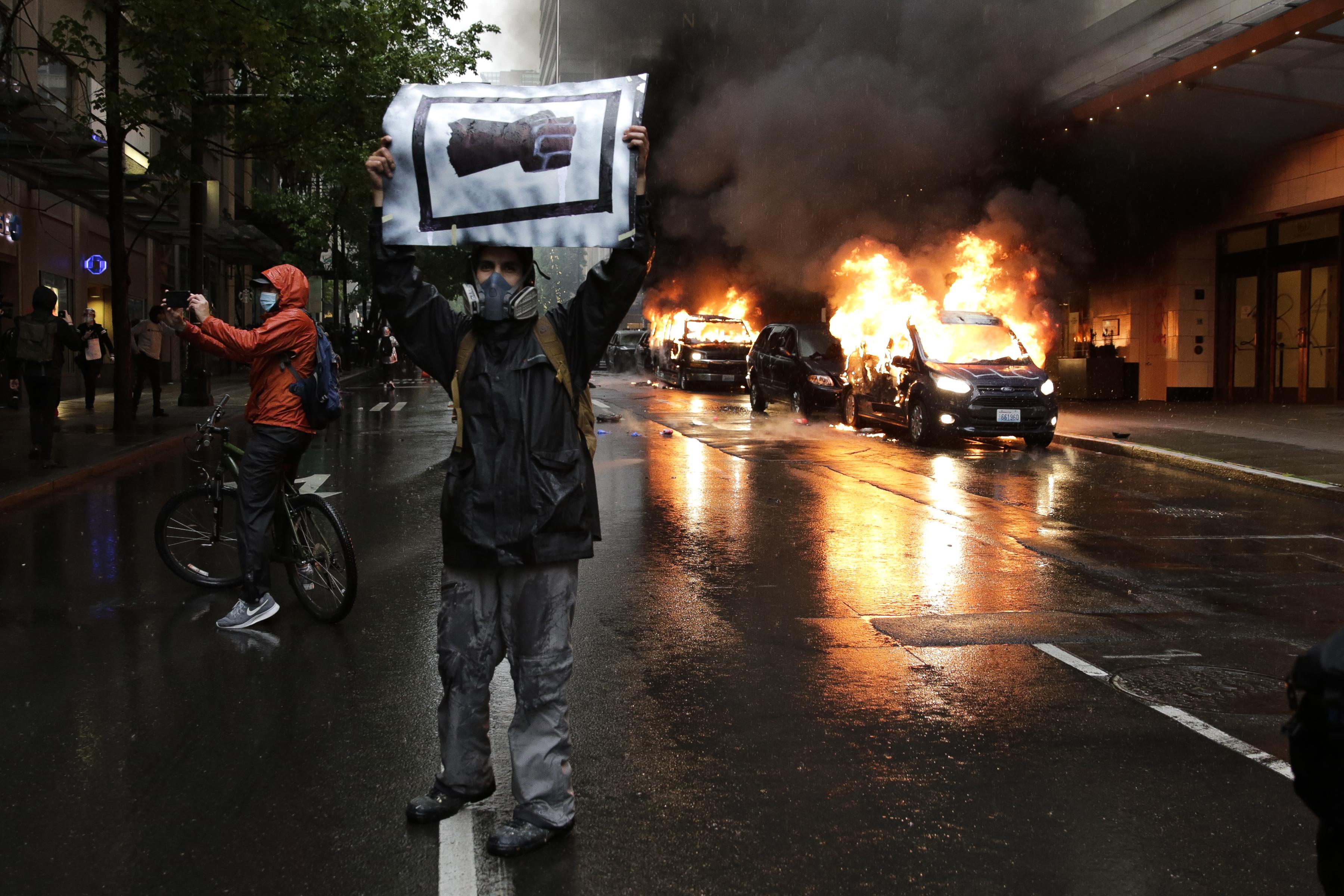 Veel protesten tegen politiegeweld in de VS.