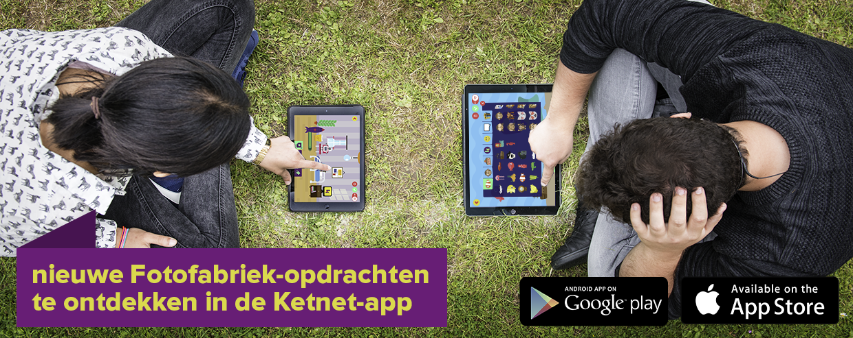 Fotofabriek in de Ketnet-app voor tablet