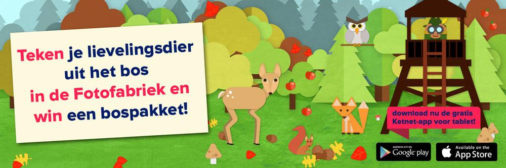 Teken je lievelingsdier uit het bos en win een bospakket