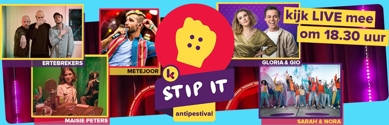 Kijk vanavond mee naar het Antipestival om 18.30 uur