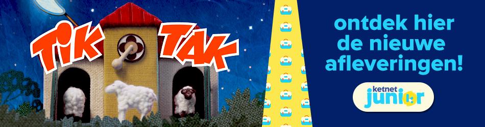 kijk naar de nieuwe afleveringen van Tik Tak!